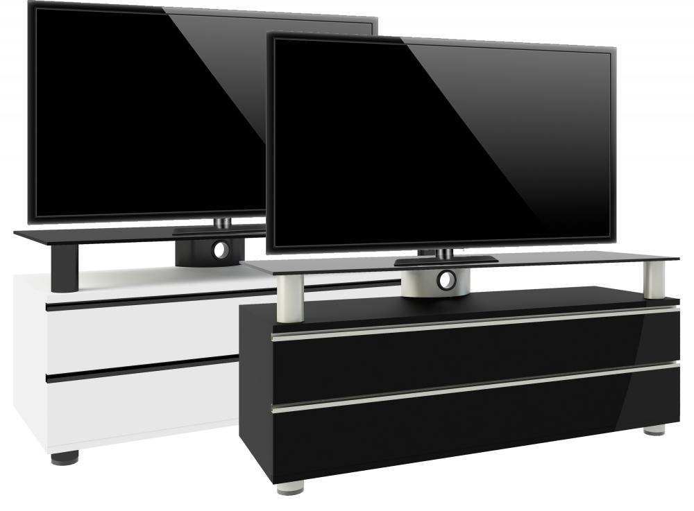 Moderne design tv meubels hoogglans wit en mdf hout for Tv dressoir hoogglans wit